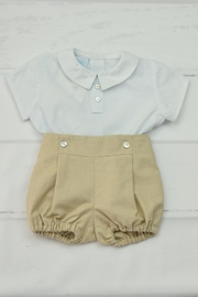 Granlei 1980 Blue & Beige Outfit - Front cropped