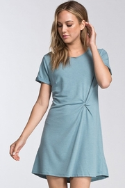 Cherish Blue Belle Twist Front Dress - Product Mini Image