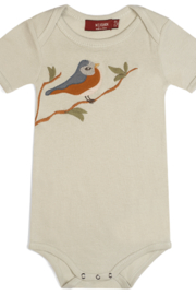 Milkbarn Kids Blue Bird Applique Onesie - Product Mini Image