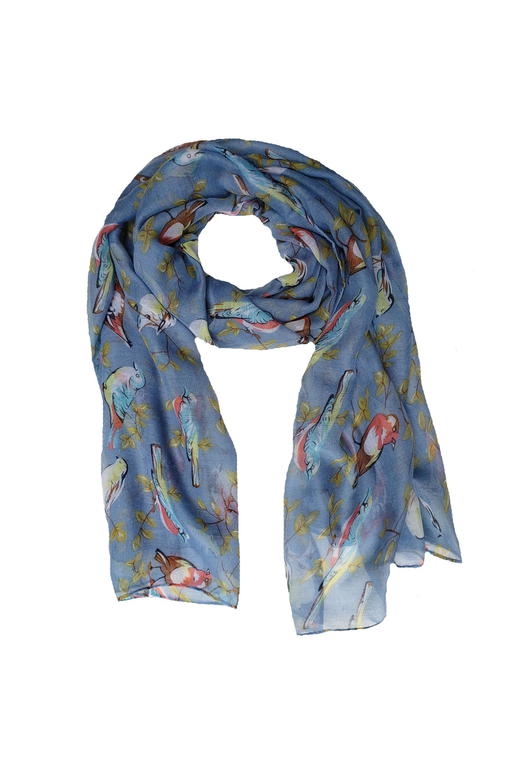 BEVA Blue Birds Scarf - Main Image