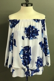 Multiples Blue Blossoms Blouse - Product Mini Image