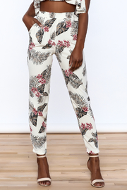 blue blush Floral Print Pant - Product Mini Image