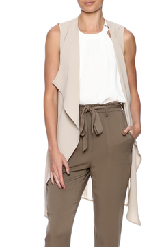 Shoptiques Product: Taupe Long Vest