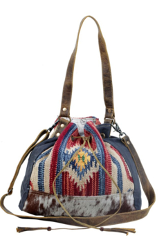 Myra Bag  Blue Bucket Bag - Product List Image