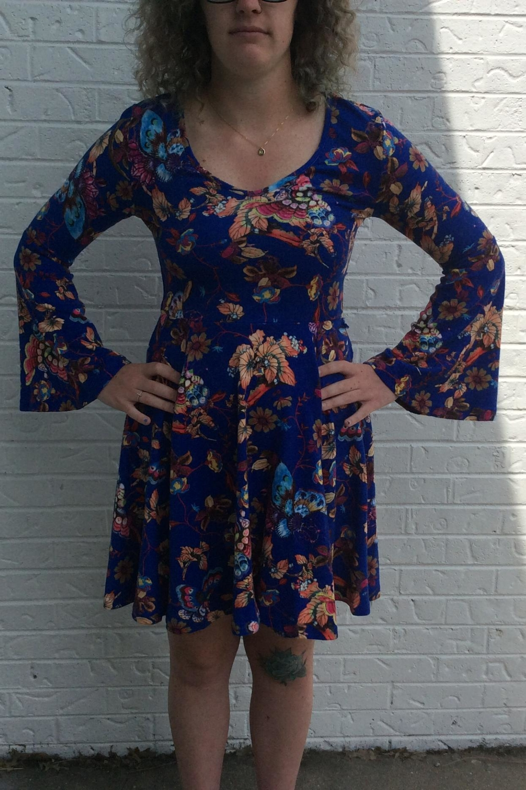Aryeh Blue Butterfly Dress - Main Image