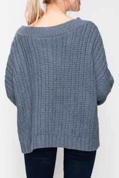 Favlux Blue Cable-Knit Sweater - Alternate List Image