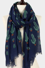 Wild Lilies Jewelry  Blue Cactus Scarf - Front cropped
