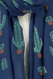 Wild Lilies Jewelry  Blue Cactus Scarf - Front full body
