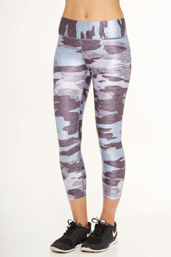 Terez Blue Camo Capri Legging - Alternate List Image