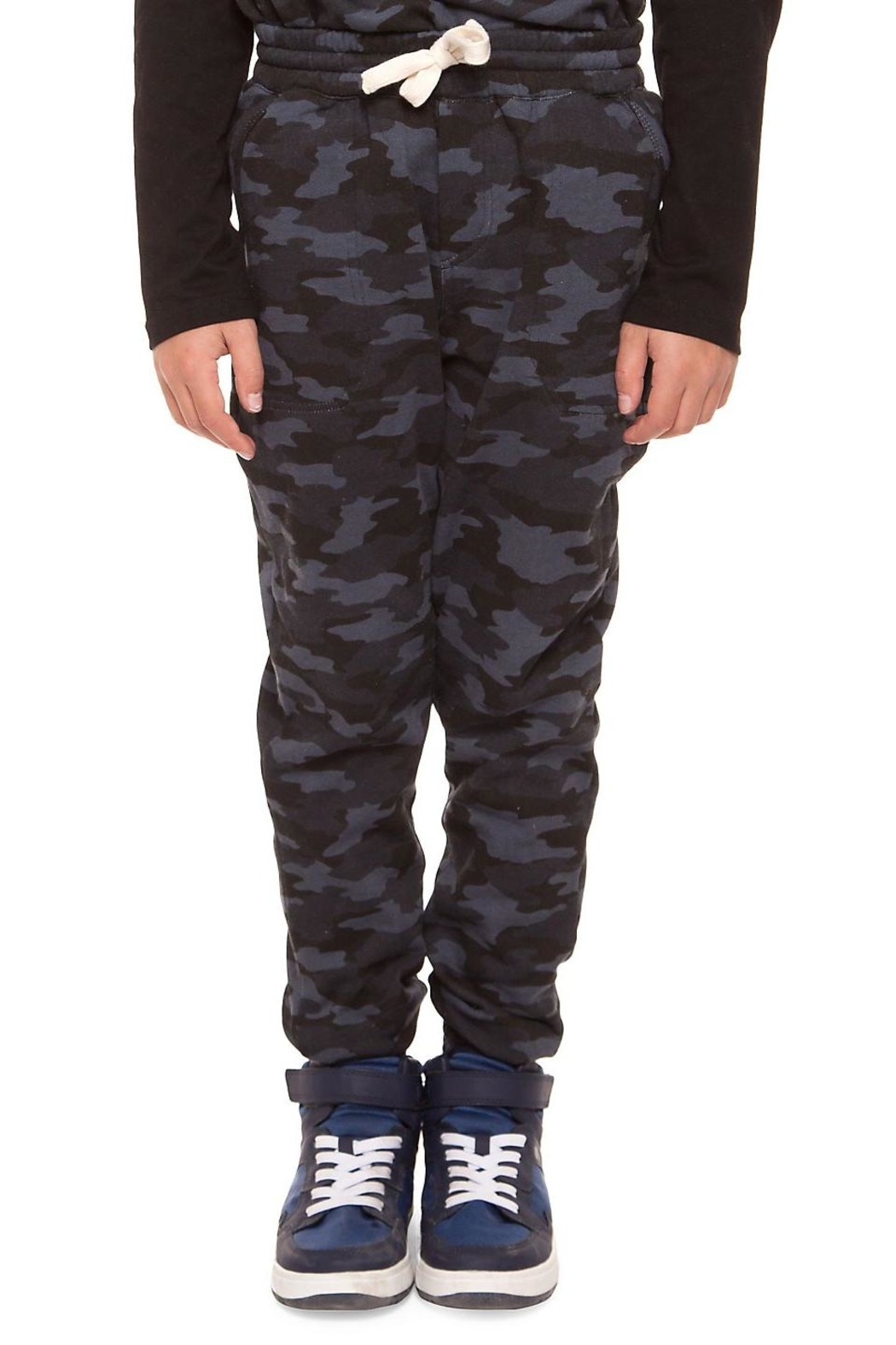 Dex Blue Camo Joggers - Front Cropped Image