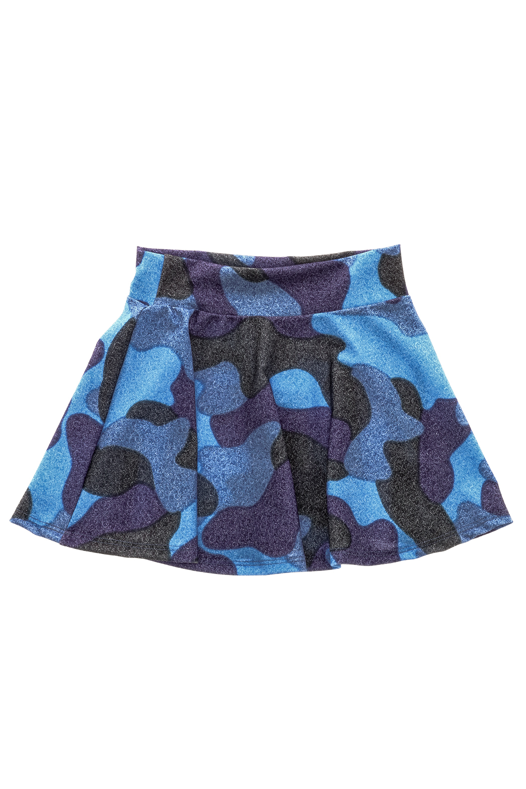 Rock Candy Blue Camo Skirt - Back Cropped Image
