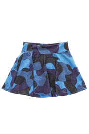 Rock Candy Blue Camo Skirt - Back cropped