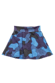 Rock Candy Blue Camo Skirt - Front cropped