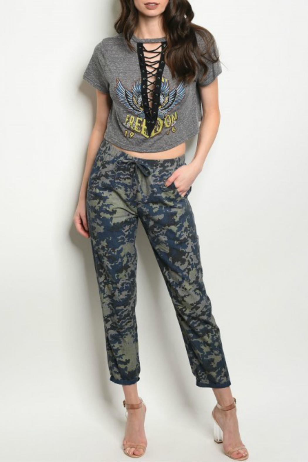Signature 8 Blue Camouflage Pants from Colorado by Lady Unique ... 402a917a654