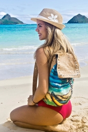 'olu'olu By Bliss Hawaii Blue Canoe Backpack - Product Mini Image
