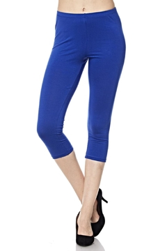 New Mix Blue Capri Leggings - Alternate List Image