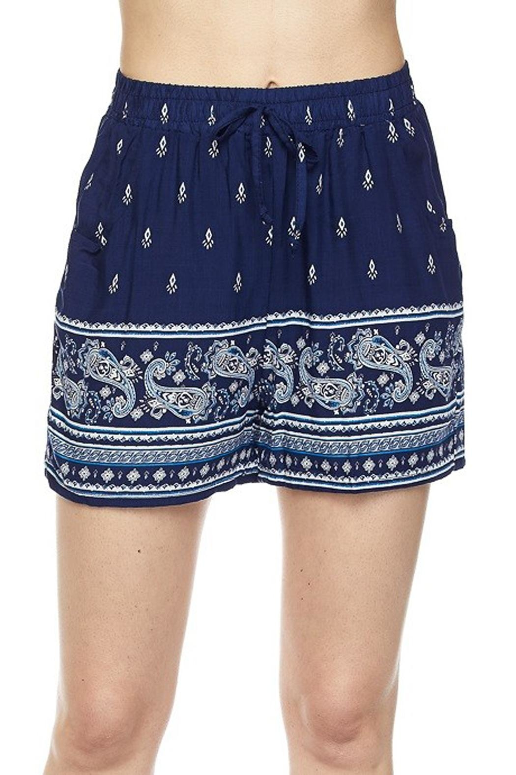 New Mix Blue Challis Short - Front Full Image