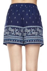 New Mix Blue Challis Short - Side cropped