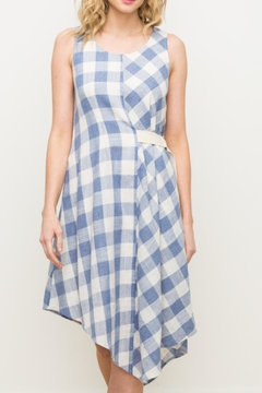 Shoptiques Product: Blue Checkered Dress