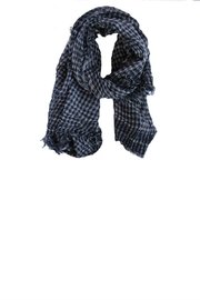 Kaskol Blue Chequered Scarf - Product Mini Image