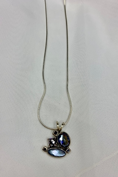 deannas Blue Cluster Gemstone Necklace - Alternate List Image