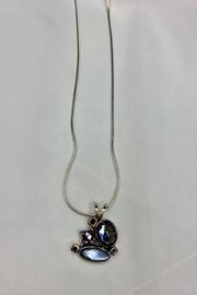 deannas Blue Cluster Gemstone Necklace - Front cropped