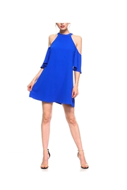 TCEC Blue Cold-Shoulder Dress - Product Mini Image