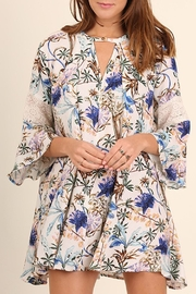Umgee USA Blue-Cornflower Floral-Print Dress - Product Mini Image