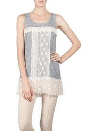 The Vintage Valet Blue Crochet Tank - Product Mini Image