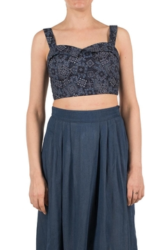 Shoptiques Product: Blue Cropped Top