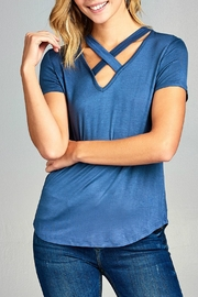 Minx Blue Cross Tee - Product Mini Image