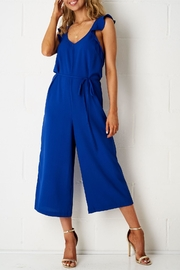 frontrow Blue Culotte Jumpsuit - Front cropped