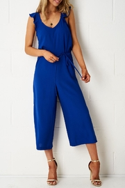 frontrow Blue Culotte Jumpsuit - Front full body