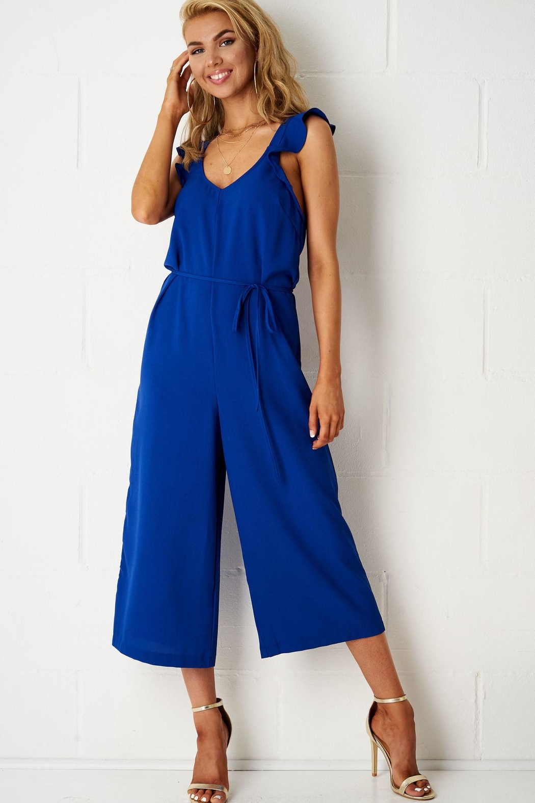 frontrow Blue Culotte Jumpsuit - Main Image
