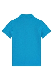 Paul Smith Junior Blue-Danube 'Ridley' Polo-Top - Front full body