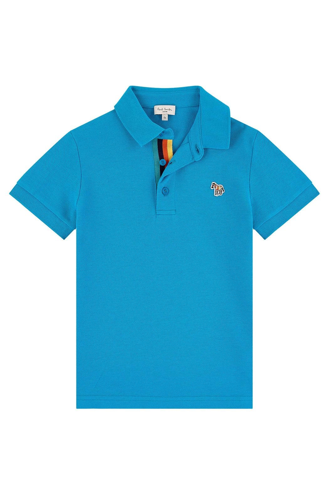 Paul Smith Junior Blue-Danube 'Ridley' Polo-Top - Main Image