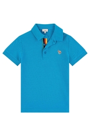 Paul Smith Junior Blue-Danube 'Ridley' Polo-Top - Front cropped