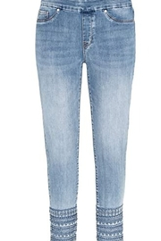 Tribal  Blue denim jegging with embellished hem - Product Mini Image