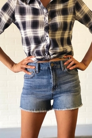 just black BLUE DENIM SHORTS - Product Mini Image