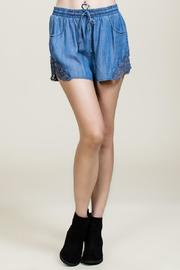 Blue Denim Shorts  - Product Mini Image
