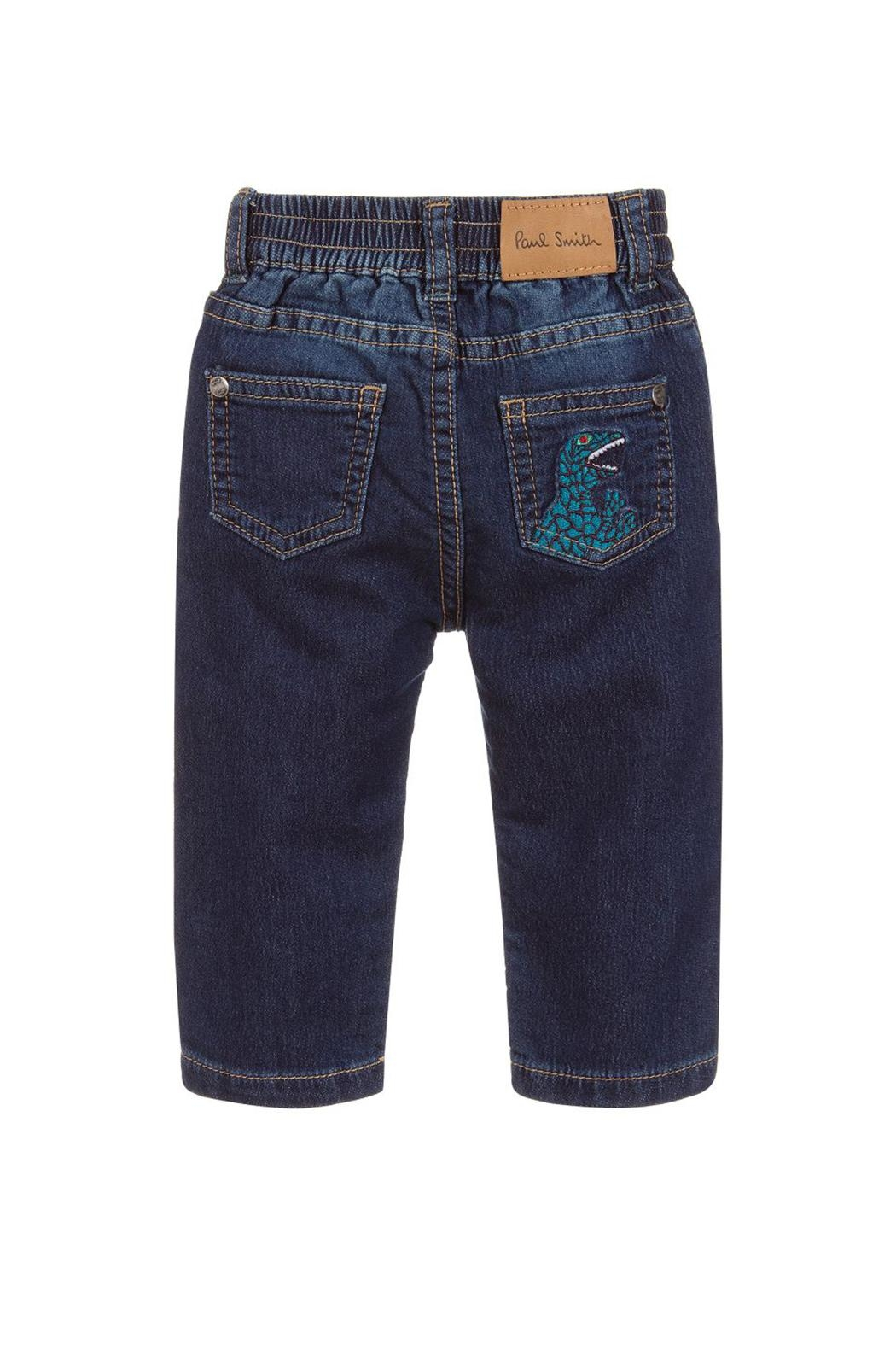 Paul Smith Junior Blue-Denim 'Tiziano' Trousers - Side Cropped Image