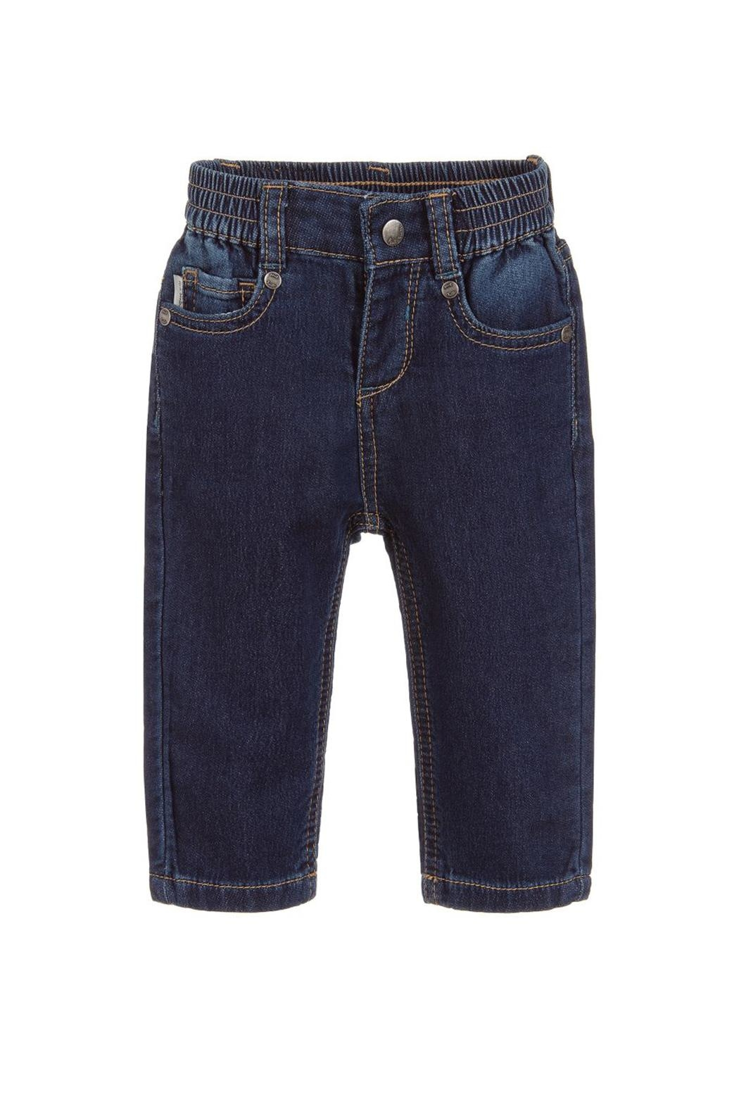 Paul Smith Junior Blue-Denim 'Tiziano' Trousers - Front Cropped Image