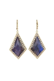 Lets Accessorize Blue Diamond Drop-Earrings - Product Mini Image