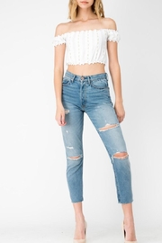 Sneak Peek Blue Distressed Jeans - Product Mini Image