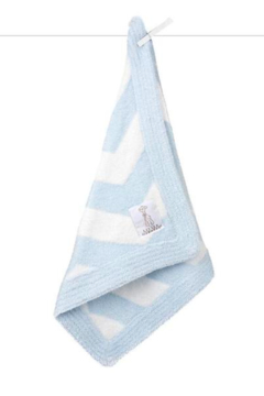 LITTLE GIRAFFE Blue Dolce Chevron Blanky - Alternate List Image
