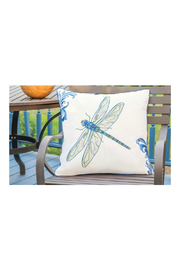 RIGHT SIDE DESIGN Blue Dragonfly Pillow - Outdoor Sunbrella - Product Mini Image