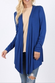 Zenana Outfitters Blue Drapey Cardigan - Product Mini Image