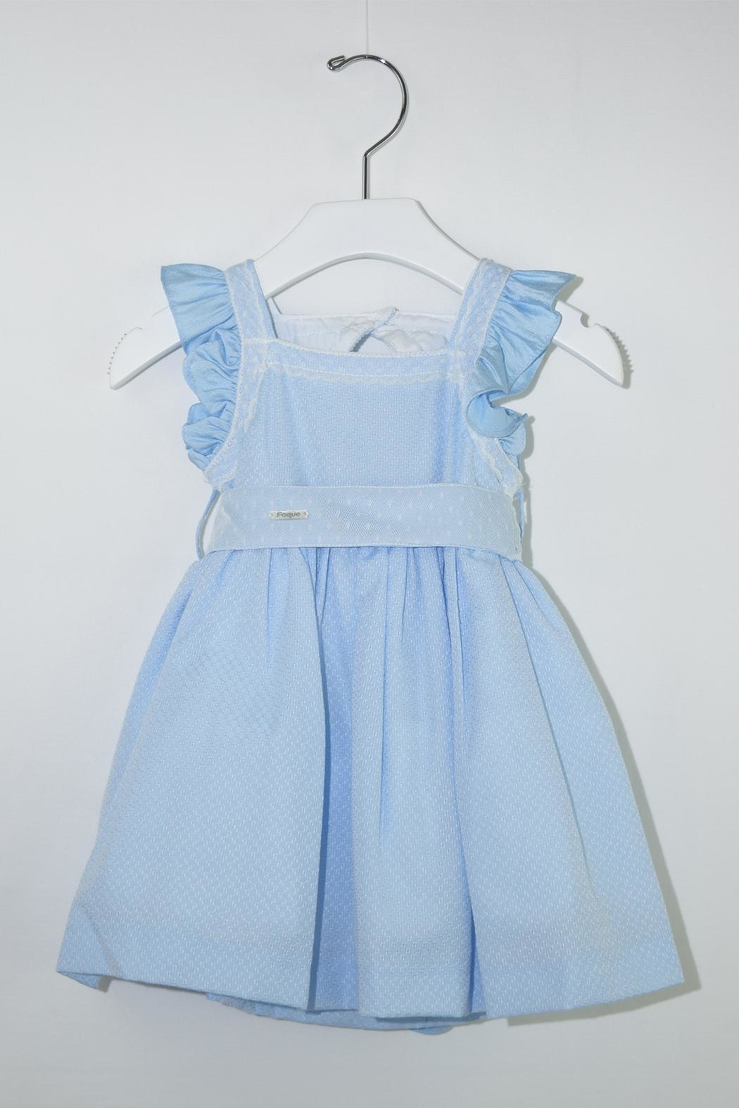 Foque Blue Dream Dress - Front Cropped Image