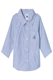 Petit Bateau Blue Dress Shirt - Front cropped