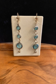 tesoro  Blue Drop Stone Earrings - Product Mini Image